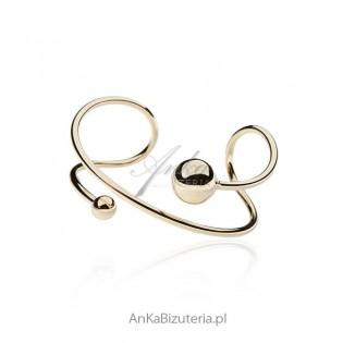 Bransoletka srebrna pozłacana - biżuteria włoska