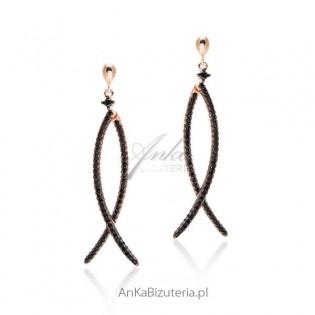 Biżuteria srebrna - Kolczyki Line Argent