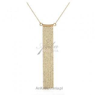 "Biżuteria srebrna: Naszyjnik srebrny pozłacany ""Kleopatra"""
