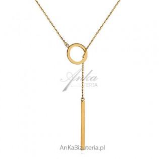 Celebrytka - Naszyjnik srebrny pozłacany krawatka