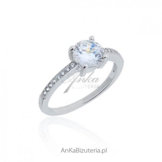 Niewiarygodnie Pierścionek srebrny zaręczynowy Biżuteria srebrna zaręczynowa w BE44