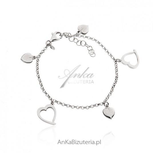 Bransoletka srebrna Oryginalna biżuteria włoska