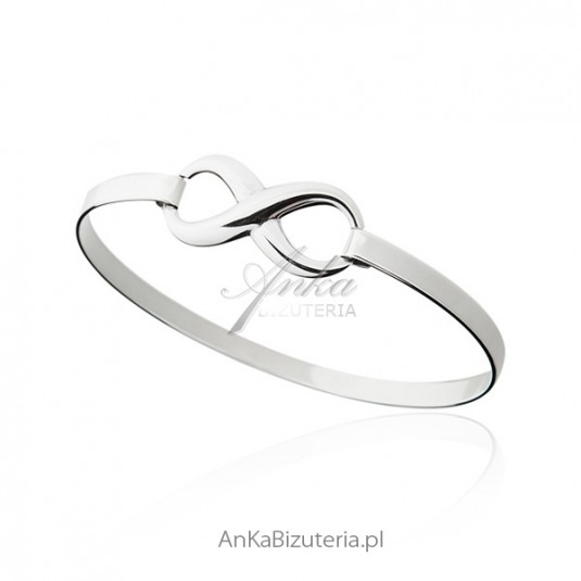 c41f81a33e Bransoletka srebrna nieskończoność Biżuteria srebrna bransoletki w ...