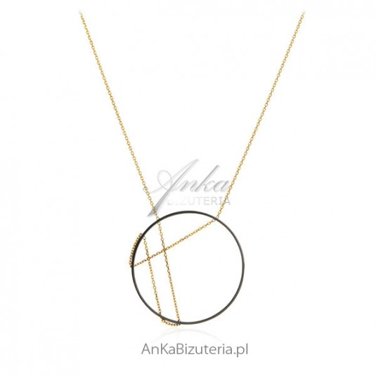 Naszyjnik srebrny długi - Modna biżuteria