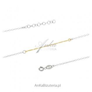 Bransoletka srebrna Delikatna biżuteria damska