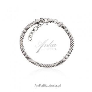 Bransoletka srebrna Biżuteria włoska