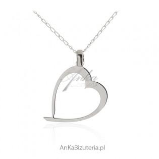 Zawieszka srebrna Srebrne serce