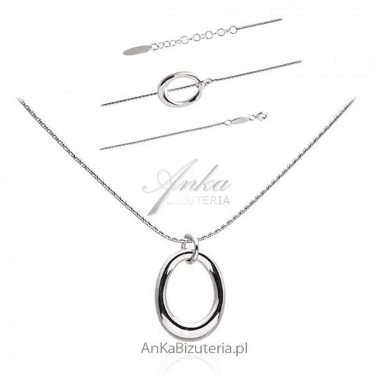 Komplet biżuterii srebrnej Biżuteria srebrna włoska