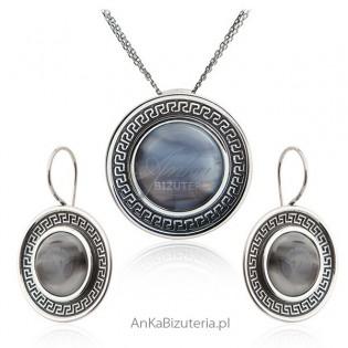 Komplet biżuterii srebrnej Biżuteria srebrna