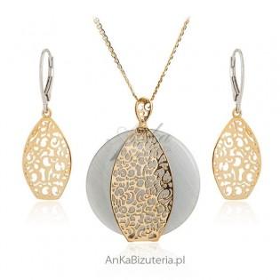 Biżuteria srebrna Komplety pozłacane