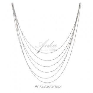 Naszyjnik srebrny Piękna biżuteria