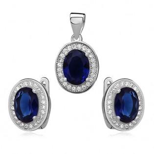 Komplet biżuterii Markizy z niebieską cyrkonią