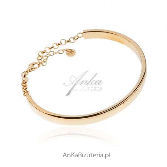 Srebrna bransoletka pozłacana Biżuteria klasyczna