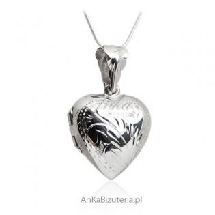 Zawieszka srebrna serduszko - puzderko Biżuteria na prezent!