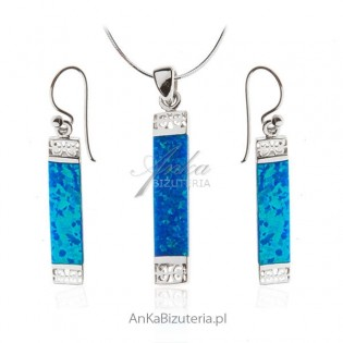 Komplet biżuterii z opalem Piękna biżuteria na Prezent!