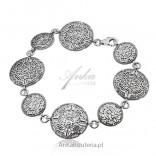 Bransoletka srebrna - Kalendarz majów