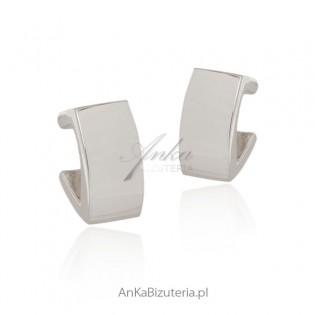 Klasyczna biżuteria - Kolczyki srebrne