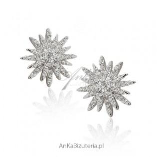 Kolczyki srebrne Śnieżki - Hiszpania Lineargent