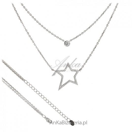 Biżuteria na Gwiazdkę - Naszyjnik srebrny hiszpańskiej firmy Lineargent
