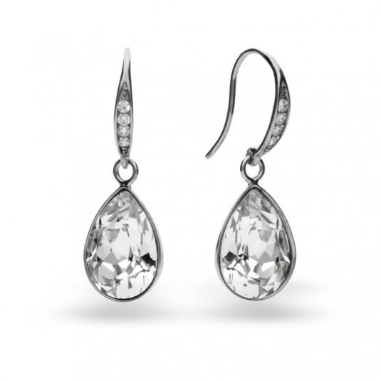 Kolczyki srebrne z kryształami Swarovski