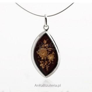 Biżuteria artystyczna z bursztynem - biżuteria srebrna