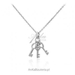 Naszyjnik srebrny z kluczykami