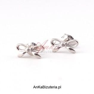 Kolczyki srebrne kokardki