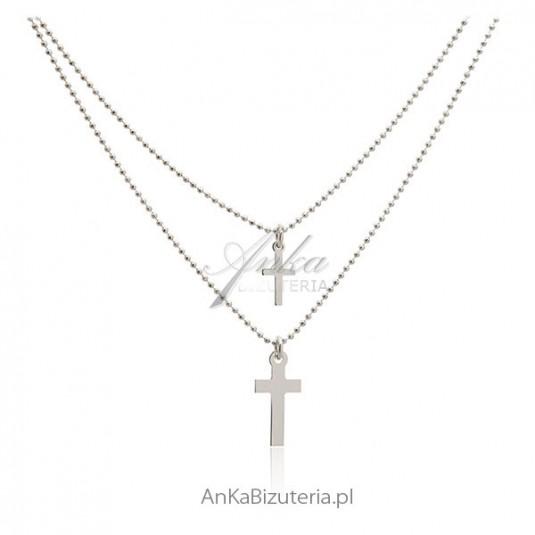 Modna biżuteria damska Naszyjnik z krzyżykami