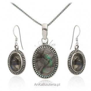 Biżuteria srebrna z labradorytem