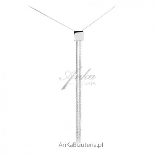 Naszyjnik srebrny - Piękna włoska biżuteria