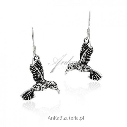Kolczyki srebrne Kolibry