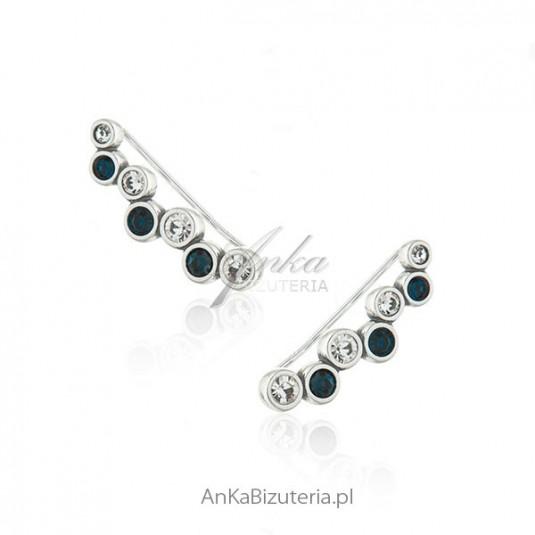 Modna biżuteria srebrna Nausznice kolczyki