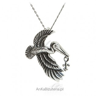 Zawieszka srebrna kormoran