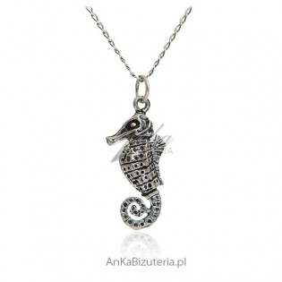 Zawieszka srebrna konik morski
