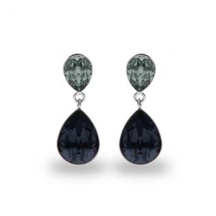 Kolczyki srebrne z kryształami Swarovski KOLCZYKI PERA