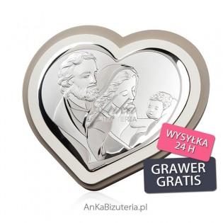 Srebrne pamiątki Obrazek srebrny Święta Rodzina 19,3 cm x 17,8 cm