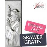 Pamiątki komunijne Papież Jan Paweł II z Grawerem jako życzenia komunijne