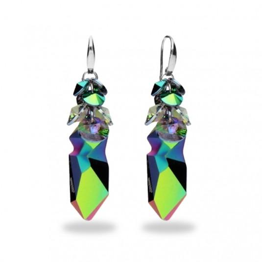 Biżuteria Swarovski Kolczyki - Kaputt Scarabaeus Green i Paradise Shine J.P.Gaultiera