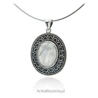 Zawieszka srebrna z kamieniem księżycowym