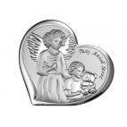 """""""Twój Anioł Stróż"""" Piękna Pamiątka dla dziecka na Chrzest Komunię 11*9,6 cm"""