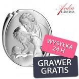 Święta Rodzina Obrazek srebrny na Prezent 10*9 cm