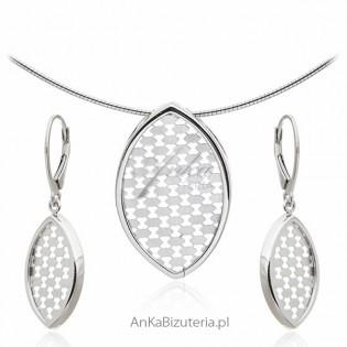 Biżuteria srebrna na prezent - Komplet biżuterii