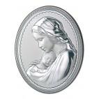 Madonna z dzieciątkiem - Obrazek srebrny