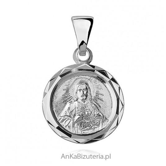 Medalik srebrny Jezus