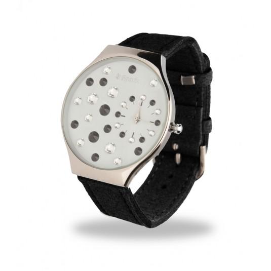 Duzy zegarek damski LadyBird z kryształami Swarovski