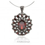 Oryginalna zawieszka srebrna Piękna biżuteria damska