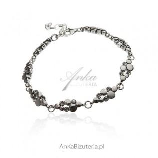 Bransoletka srebrna z cyrkoniami AnKa Biżuteria online