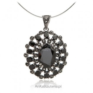 Biżuteria srebrna zawieszka z onyksem Sklep online AnKa