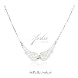 Naszyjnik srebrny Skrzydła Anioła - Biżuteria włoska
