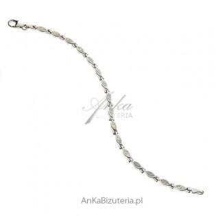 Bransoletka srebrna z białym opalem Sklep online